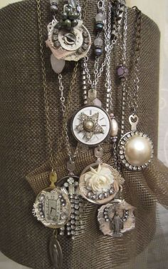 Jeanette Janson-Mixed Media Artist...necklaces made from optical lenses