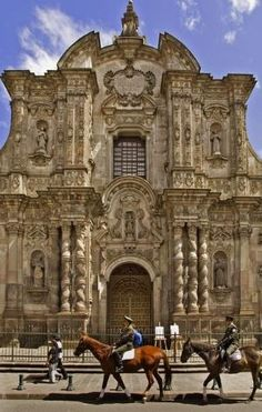 La Compania Church is a Jesuit Church in  Quito, Ecuador.  Construction began in 1605 and was not completed until 1765.  This church has one of the most significant works of Spanish Baroque architecture in South America.  It is Quito's most ornate church and the country's most beautiful.
