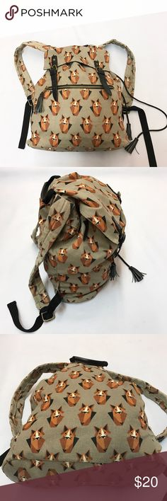 """Mossimo fox print backpack Mossimo fox print backpack. Very good condition. Measures 15""""x16.5"""" Mossimo Supply Co Bags Backpacks"""