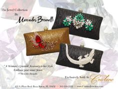Embrace Your inner Jewel with an evening clutch  by Mercedes Brunelli designed especially for Cristino Fine Jewelry.  This Collection is unique and elegant and is the perfect addition to every women's wardrobe.  It can be worn as a clutch or a cross body bag. Evening Clutches, Her Style, Cross Body, Fine Jewelry, Crossbody Bag, Jewels, Elegant, Unique, Bags