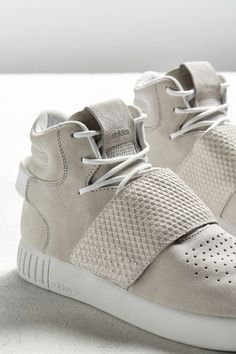 New! adidas Originals TUBULAR Runner Shoes Vintage White Gray