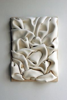sculpture murale, magnifique… wall sculpture, Jeannine-Marchand I like this because of the texture and its shadows.Sculpture mural: Ceramic wall sculpture, textile-inspired, by Jeannine Marchand.Risultati immagini per wall sculptureThe sculptures o Ceramic Wall Art, Ceramic Pottery, Instalation Art, Paperclay, Fabric Manipulation, Wall Sculptures, Sculpture Painting, Textile Sculpture, Sculpture Ideas