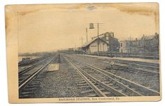 Railroad Station New Cumberland PA Pennsylvania Train Tracks Railroad Depot | eBay