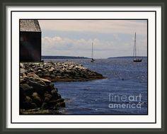 Sunny Afternoon Shelburne Harbour Framed Print By Wayne Enslow Sunny Afternoon, Hanging Wire, Prints For Sale, Photographic Prints, Fine Art America, Framed Prints