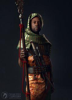 ArtStation - Nubian Guard, Maciej Zatwarnicki