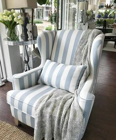 Its another rainy day here at Sanctuary Cove and all I want to do is curl up in our Azurest Wing Chair with a cup of tea. Shop Sanctuary Cove & James Street New Farm www. Hamptons House, The Hamptons, Cosy Corner, Furniture Styles, Ikea Furniture, Luxury Furniture, Painted Furniture, Furniture Design, Rental Decorating