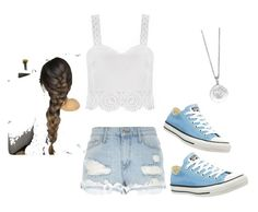 """""""Love!"""" by wildflower08 ❤ liked on Polyvore featuring River Island, Converse and London Manori"""