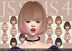 B-flysims Hair M109 Auburn Edited at JS Sims 4 • Sims 4 Updates