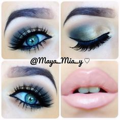 Naked palette 1 Smokey Gold/Bronze eye and Mac Myth lips Pictorial coming up ... - @maya_mia_y- #webstagram