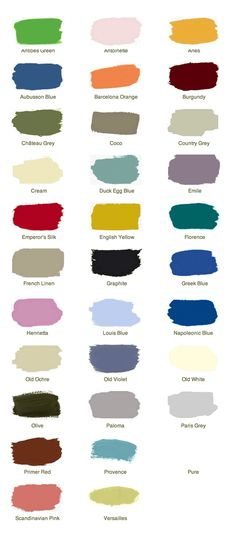 Anne Sloan Chalk Paint Color Ideas