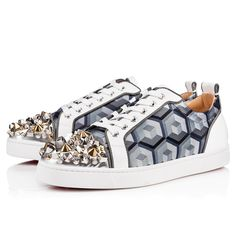 162858648672 CHRISTIAN LOUBOUTIN Louis Junior Mix Patent calf.  christianlouboutin  shoes    Cuir De