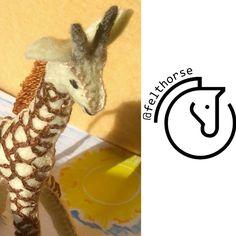 Felt Animal Patterns, Stuffed Animal Patterns, Felt Giraffe, Felt Gifts, Natural Toys, Colorful Animals, Felt Animals, Toys For Girls, Beautiful Horses