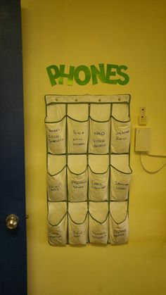 Collecting phones in the classroom. I then use this as the means for taking the register. No phone = absent for the day!