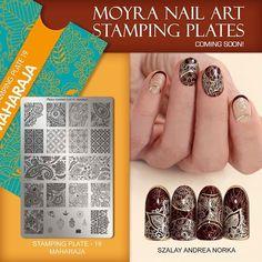 Moyra stamping plate No.19 Maharaja Coming soon! #moyra#nailart#stamping#maharaja#comingsoon
