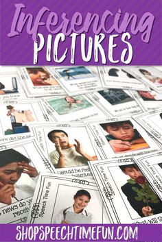 Help your speech and language students finally grasp inferencing and build their critical thinking skills using these real life pictures! Higher level thinking doesn't have to be a challenge! Perfect for older speech therapy students ready to move beyond basic wh- questions!