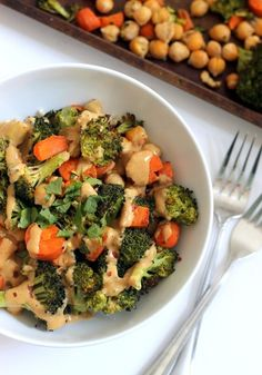 Chickpea Broccoli Buddha Bowl is an easy, vegan, and gluten-free meal that's kid-friendly!