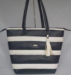 bolsa de couro, bolsa de listras, estilo marinheiro, bolsa exclusiva, bolsa grande, bolsa média, bolsa térmica, bolsa navy, bolsa marinheiro, estilo navy