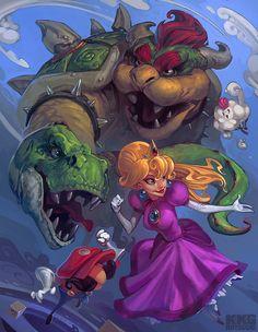 Super Mario!- Created byLuke Mancini Part of theKKG Artbooksponsored byGamers for Good.