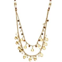 Lauren Ralph Lauren Mother-of-Pearl and Tigers Eye Multi-Row Beaded... ($78) ❤ liked on Polyvore featuring jewelry, necklaces, gold, layered chain necklace, beading necklaces, multi strand necklace, multi row necklace and multi strand beaded necklace