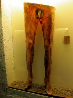 Necropants are made of human skin and were worn by Icelandic sorcerers in the century. As far as we know, there is just one pair of intact necropants left on earth and they are locked behind glass at the Museum of Icelandic Sorcery Witchcraft in . Scary, Creepy, Best Halloween Costumes Ever, Religion, Bizarre, Interesting History, Interesting Facts, Weird And Wonderful, Macabre