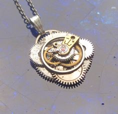 Watch Parts Pendant Trion Sci fi Intricate by amechanicalmind