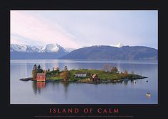 Omaholmen - an island in the Hardanger fjord, Norway. Taken from route 49 at Omastrand