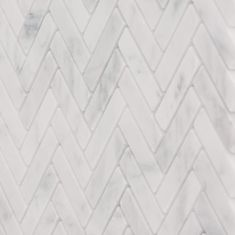 Jeffrey Court Jet Stream White Herringbone 10 in. x 11 in. x 8 mm Honed Marble Stone Mosaic Wall/Floor - The Home Depot Stone Mosaic Tile, Marble Mosaic, Mosaic Wall, Mosaic Tiles, Wall Tile, Honed Marble, Marble Wall, Bathroom Floor Tiles, Tile Floor