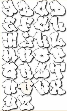How to Draw Graffiti Characters | How To Write Graffiti Letters A Z