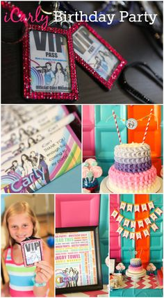 Cool iCarly birthday party ideas, perfect for a tween girl birthday! See more party ideas at CatchMyParty.com. #icarly #girlbirthday