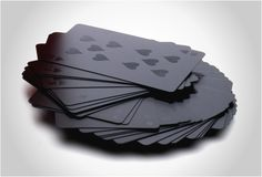 This is a beautiful deck of cards. Then again, I'm a sucker for black monochromatic anything.