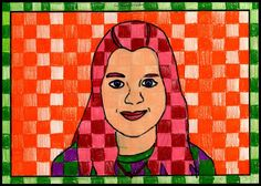 Art Projects for Kids: Another Chuck Close Portrait