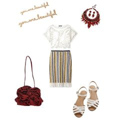 You are beautiful by ramona-damian on Polyvore featuring polyvore, fashion, style, TIBI, Tory Burch, Bass, Chiara P and AERIN