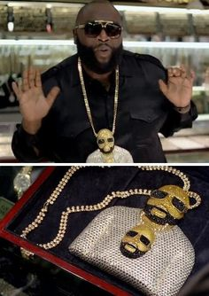 Rick Ross wearing a chain of himself wearing a chain - Imgur