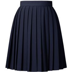 Orla Kiely Solid Crepe Blend Skirt ($305) ❤ liked on Polyvore featuring skirts, bottoms, saias, gonne, navy, navy pleated skirt, navy skirt, button skirt, navy blue skirt and pleated skirt