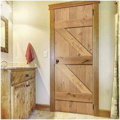 Rustic Oak Ledged and Braced Unfinished Door. #perioddoor #internaldoor #rusticdoor