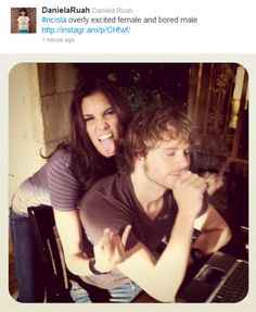 They're so cute together, even when not Kensi and Deeks!!!