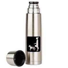 Dog Walker Large Thermos® Bottle on CafePress.com
