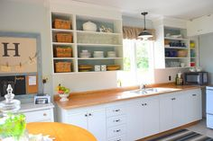 DIY Open Shelving in a Kitchen...
