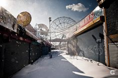 abandoned theme park in Coney Island