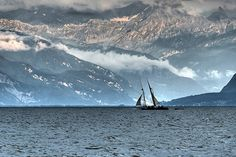 Lake Geneva or Lake Léman (French Lac Léman, le Léman, or Lac de Genève) is the second largest freshwater lake in Central Europe. 60% of it comes under the jurisdiction of Switzerland, and 40% under France.  Photo by 'Bobesh via Flickr