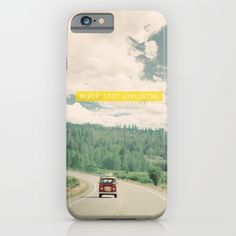 NEVER STOP EXPLORING - vintage volkswagen van iPhone & iPod Case