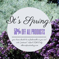 Save 50% on April 29