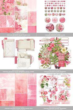 Vintage Artistry Blush | Katie Pertiet Digital Scrapbooking, Blush, Vintage, Anime, Collection, Creative, Rouge, Blushes, Cartoon Movies