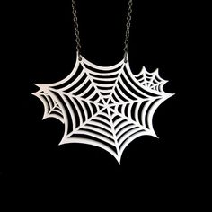 Oh What a Tangled Web We Weave Necklace  SMALL  Spider by CABfayre