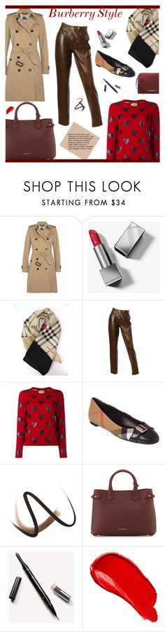 """Check and hearth goes together"" by andreamilles on Polyvore featuring Burberry"