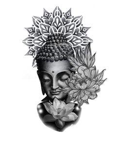 Leg tattoo with lotus flowers – Leg Tattoos Buddha Tattoos, Tattoo Sleeve Designs, Buddha Tattoo Sleeve, Leg Tattoos, Buddha Tattoo Design, Symbolic Tattoos, Buddha, Japanese Tattoo, Buddah Sleeve Tattoo