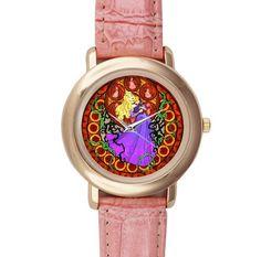 Disney Princess Aurora - Custom Pink Leather Watch. $19.00, via Etsy.