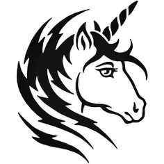 Tribal Unicorn Decal