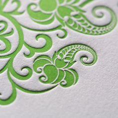 Beautiful detail of a wedding invitation by Druckerei Eisenhardt GmbH, Germany Letterpress Printing, Foil Stamping, Grafik Design, Graphic Design Typography, Design Reference, Graphic Design Inspiration, Pattern Design, Print Design, Stationery
