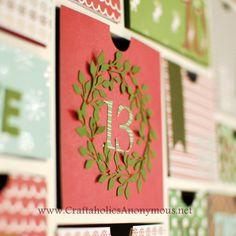 christmas advent calendar made with a silhouette cameo. discount code for 10$ off: CRAFT